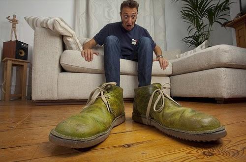 靴のサイズ間違えた―!