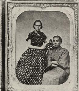 福沢諭吉と少女